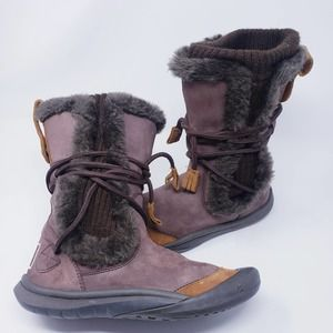 Cushe It Boot Tall Brown Suede Wool Liner Size 6